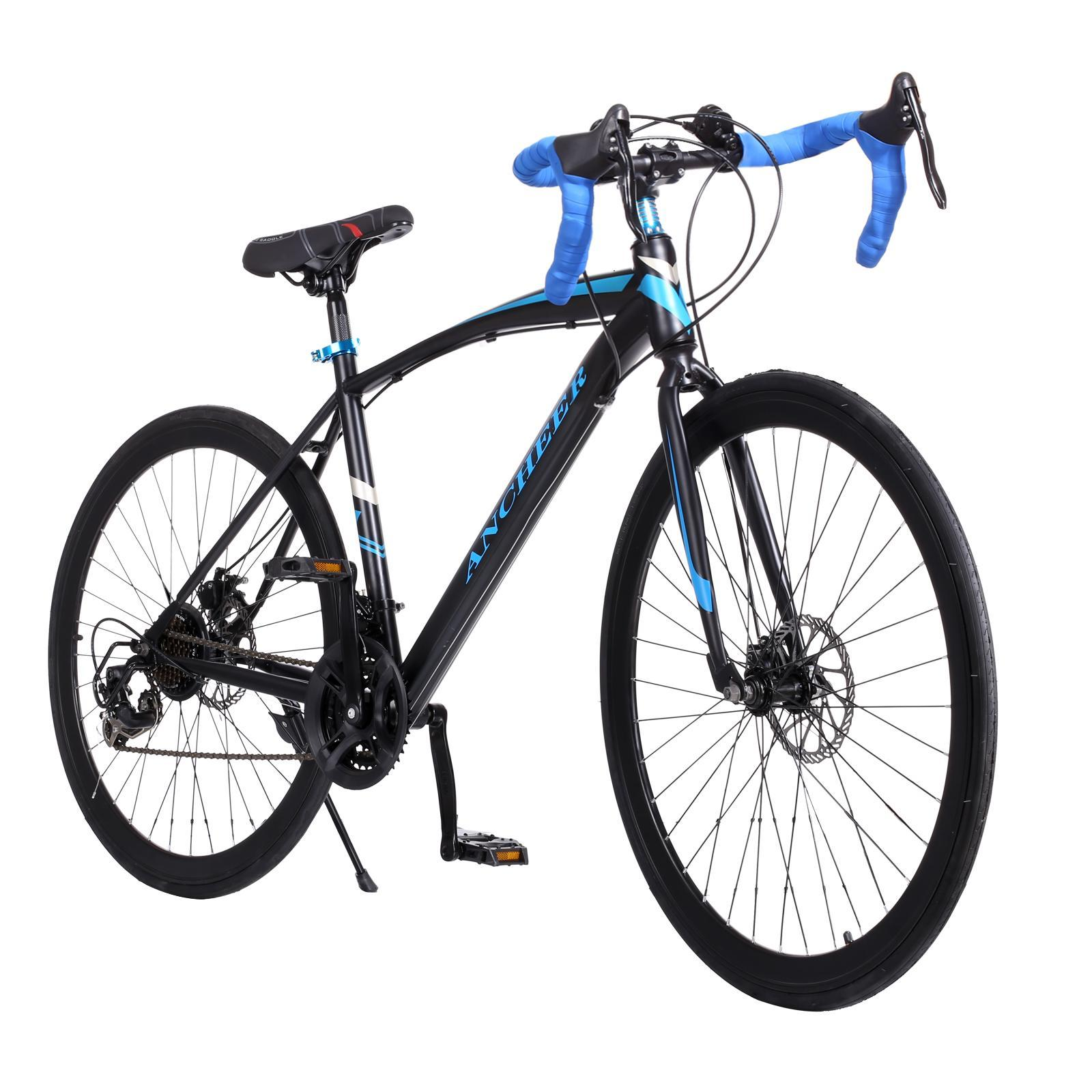 "21-Speed  700C Road Bike 26"" Men Racing Commuter Bicycle Aluminum  Detachable Cycling Bicycle TPBY"