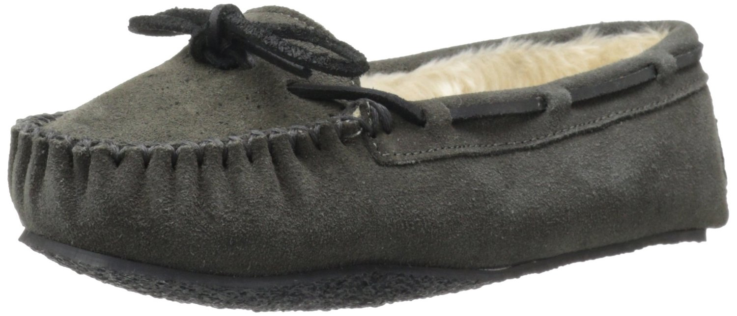 Minnetonka Women's Cally Faux Fur Slipper by Minnetonka