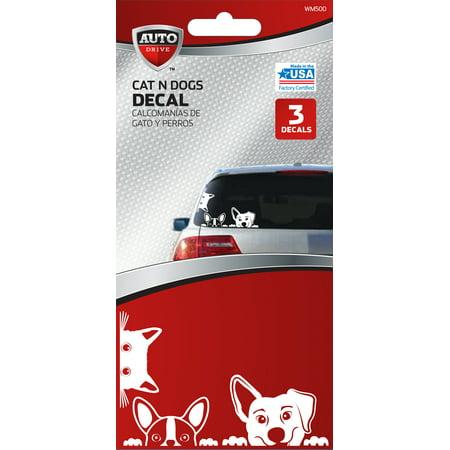 Autodrive cat dog car decal