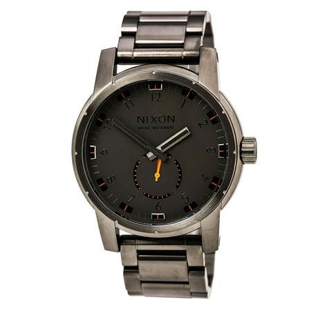 Nixon A937632 Mens Patriot Gunmetal Dial Gunmetal Ip Steel Bracelet Dive Watch