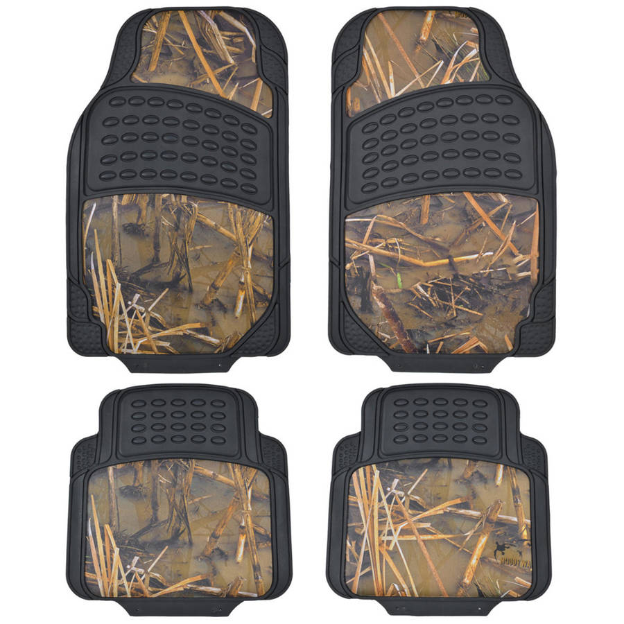 BDK Muddy Water Heavy Duty Rubber Car Floor Mats, 4pcS,, Front and Rear Full Set, All Weather