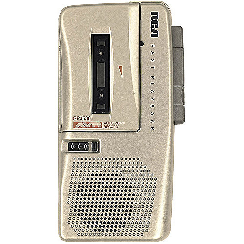 RCA Voice-Activated Microcassette Recorder