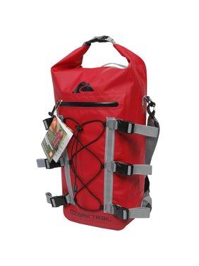 Ozark Trail Spring River Waterproof Roll Top Kayak Backpack with Tie-Down Straps, Red