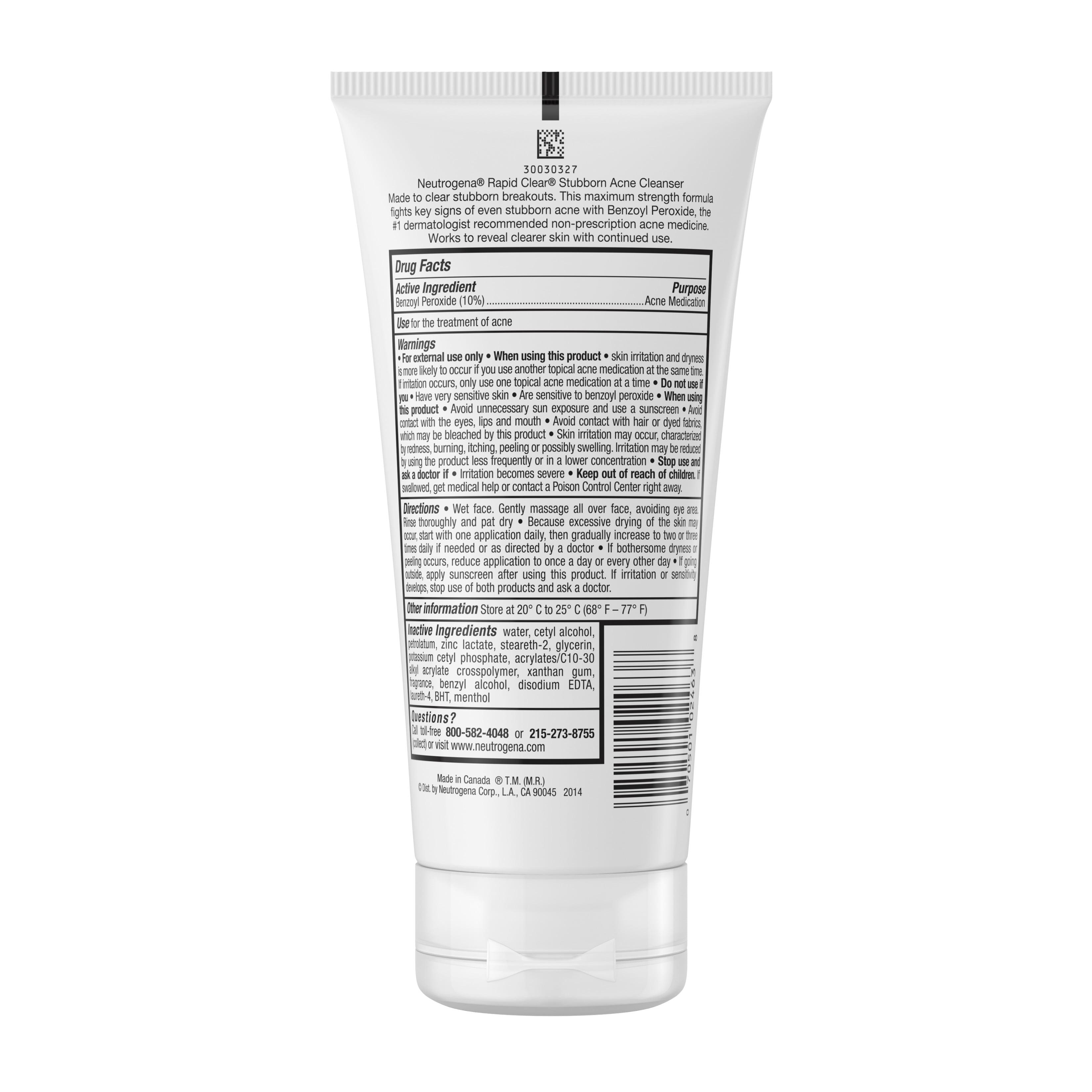Neutrogena Rapid Clear Stubborn Daily Acne Facial Cleanser 5 Fl