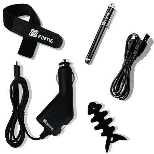 Fintie 5-in-1 Accessories Bundle - Car Charger/USB Cable/Stylus Pen/Cable Tie/Cord Winder for Nextbook, Samsung, LG, ect