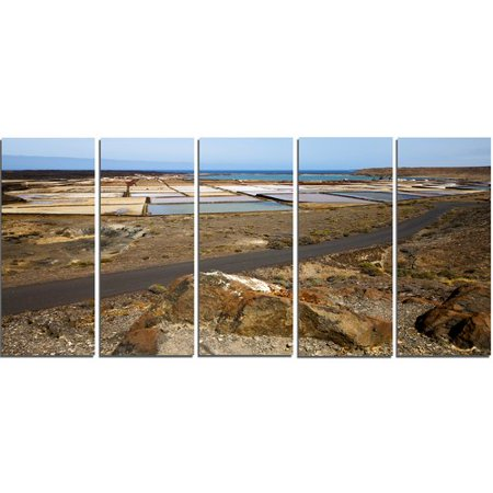 - Design Art Salt in Lanzarote Spain Musk Pond 5 Piece Photographic Print on Wrapped Canvas Set
