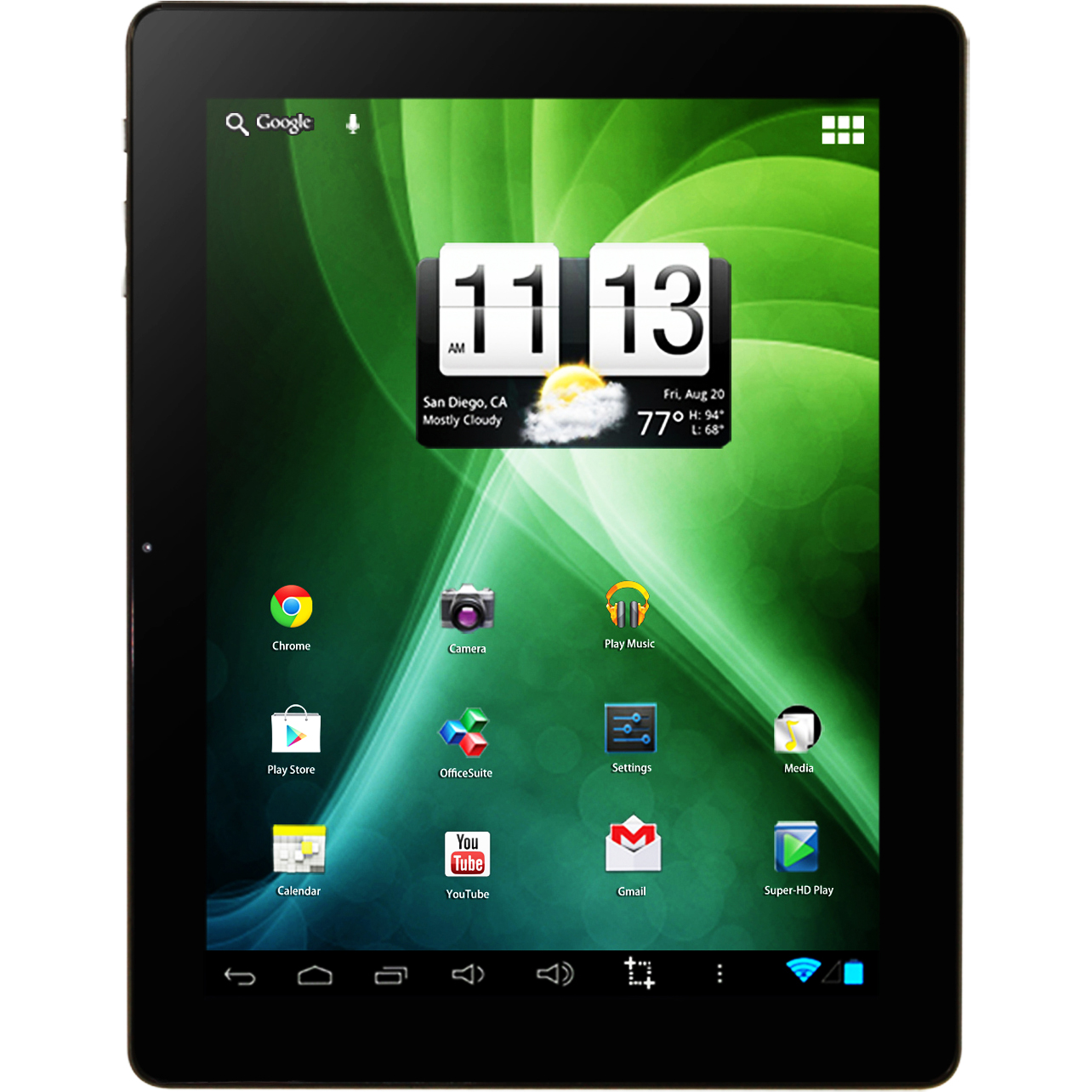 "Refurbished Trio Stealth G2 9.7"" Touch Dual-Core 1.2GHz 1GB 8GB WiFi Android Dual Cam Tablet"