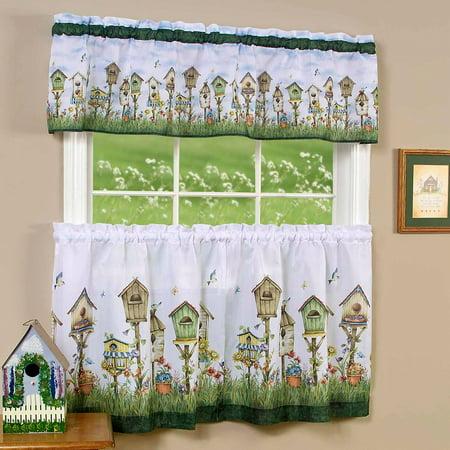 Kitchen Curtain and Valence Set, Home Sweet Home - Walmart.com