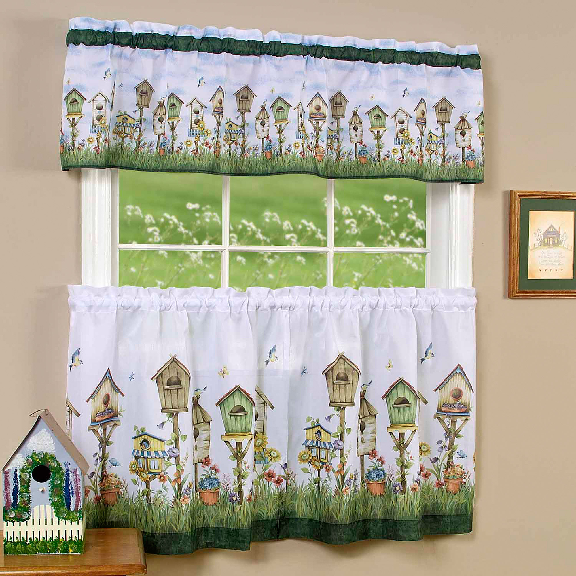 Kitchen Curtain and Valence Set, Home Sweet Home