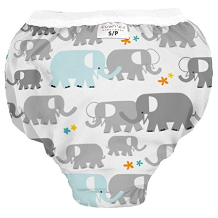 Kushies Baby Waterproof Training Pant (38-44 Pounds), White Elephants, X-Large - image 1 de 1