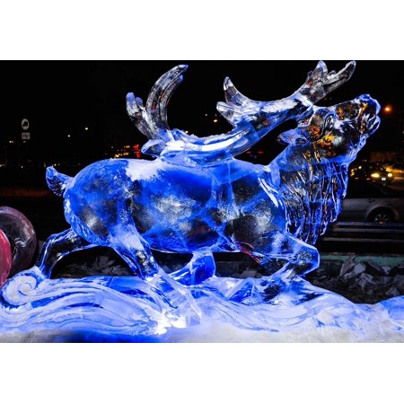 LAMINATED POSTER Frozen Winter Reindeer Decoration Christmas Xmas Poster Print 24 x 36 (Frozen Christmas Decorations)