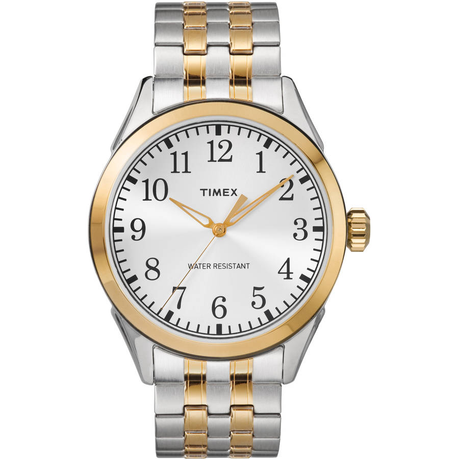 Timex Men's Briarwood Two-Tone Watch, Stainless Steel Expansion Band by Timex