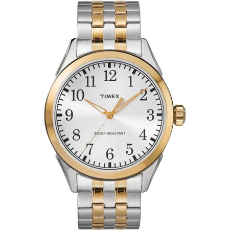 Timex Mens Briarwood Two Tone Watch  Stainless Steel Expansion Band