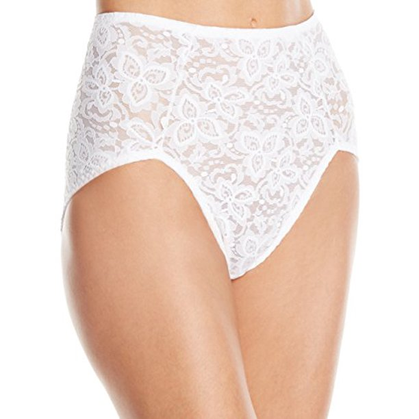 Bali - Bali Women's Shapewear Lace 'N Smooth Brief, White, Medium - Walmart.com - Walmart.com