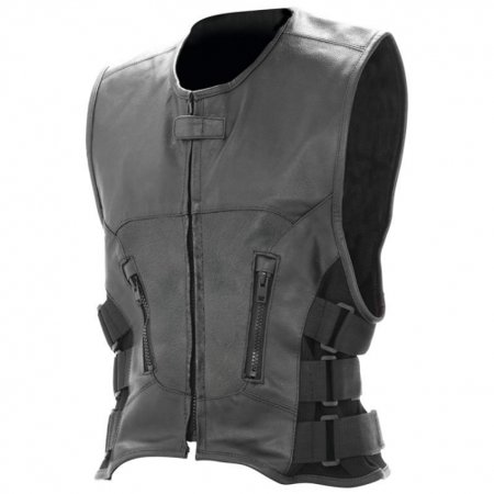 Mens Genuine Leather Vest (Rocky Mountain Hides Solid Genuine Buffalo Leather Vest )