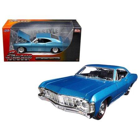 1967 Chevrolet Impala Blue \Showroom Floor\ 1/24 Diecast Model Car by Jada
