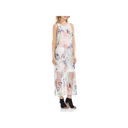 Vince Camuto Womens Sleeveless Floral Maxi Dress