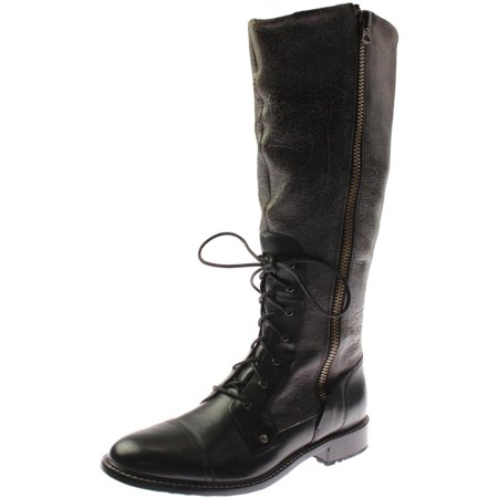 Womens Roadhouse Leather Wool Lined Knee-High Boots Fuel Off Road Boost