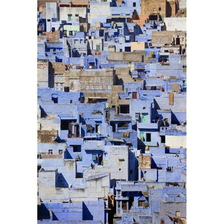 Blue Buildings of Jodhpur, Aerial View Poster Print, 24 x 38 - Large - image 1 of 1