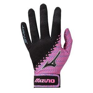 Mizuno Swift Batting Gloves - Pink/Blue - Size XL