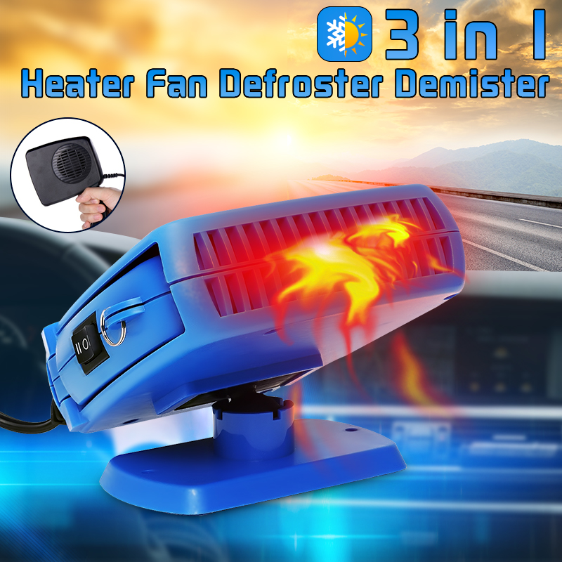 200W 12V Portable Car Truck Fan Heater Heating Cooling Windscreen Demister Defroster Dry USA