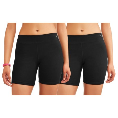 Danskin Spandex Shorts - Danskin Now Women's Core Active Dri-More Bike Short, 2 Pack Value Bundle