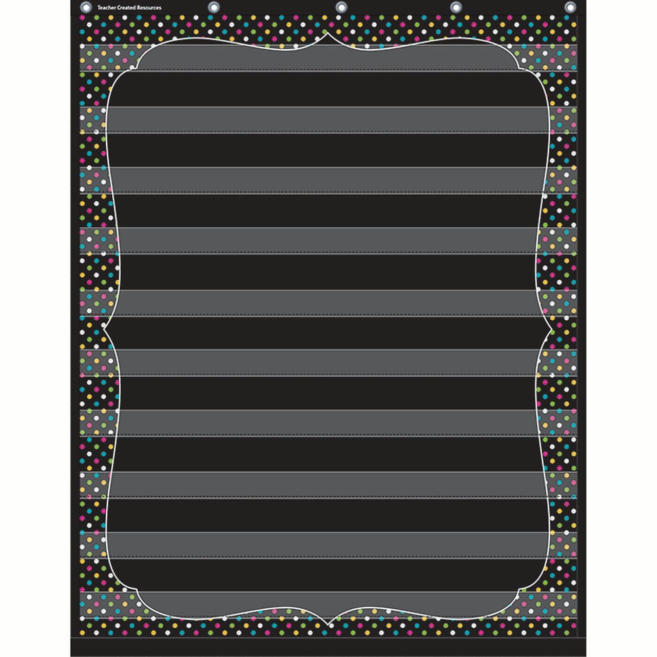 Chalkboard Brights 10 Pocket Chart - image 1 de 1