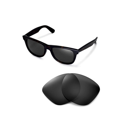 a4967e3bf4a Walleva - Walleva Black Polarized Replacement Lenses for Ray-Ban Wayfarer  RB2140 54mm Sunglasses - Walmart.com