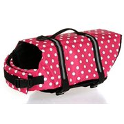 Wuudi Float Life Dog Life Jacket Medium Pet Dog Saver Life Vest Coat Medium with sunglasses