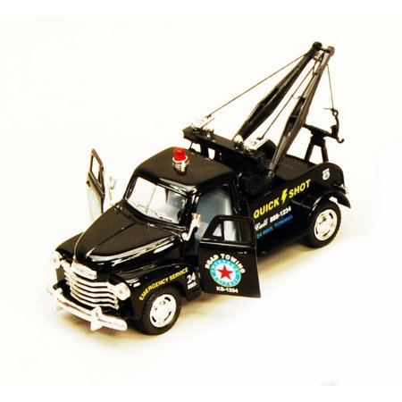 - 1953 Chevy Tow Truck, Black - Kinsmart 5033D - 1/38 scale Diecast Model Toy Car (Brand New, but NOT IN BOX)