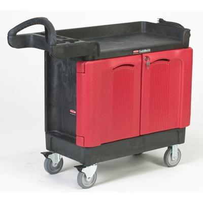 Trademaster Cart, 500-lb Cap., 2 Shelves, 18 1/4w X 41 5/8d X 38 3/8h, Black ...