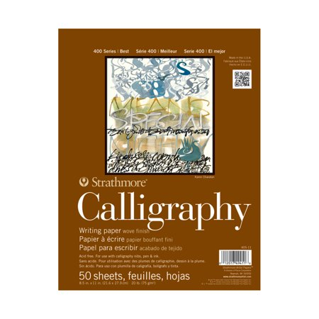 """Strathmore Calligraphy Paper Pad, 400 Series, 8.5"""" x 11"""", 50 Sheets"""