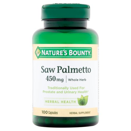 Nature's Bounty Saw Palmetto Capsules, 450mg, 100 (Best Saw Palmetto For Prostate)