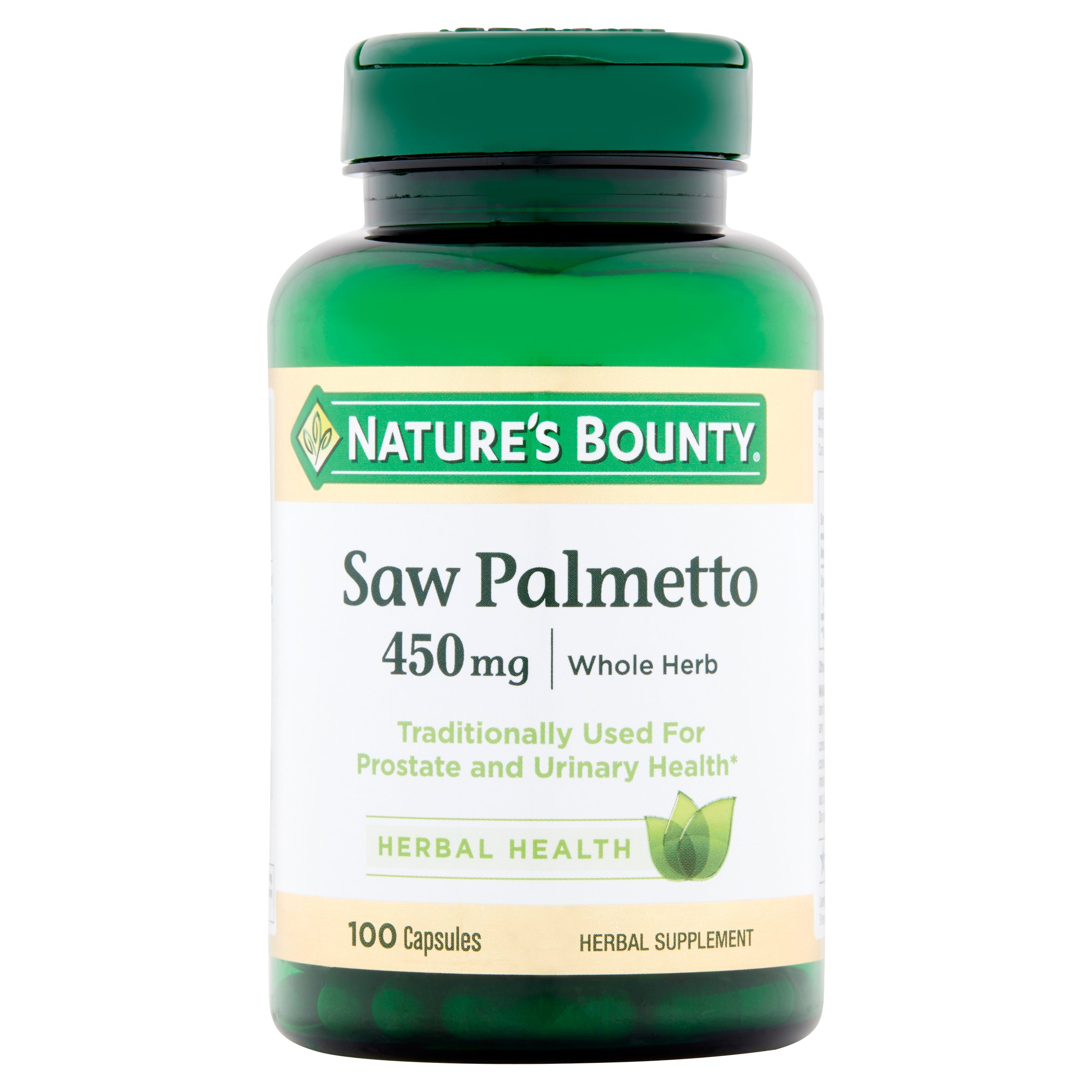 Nature's Bounty Saw Palmetto Capsules, 450mg, 100 count