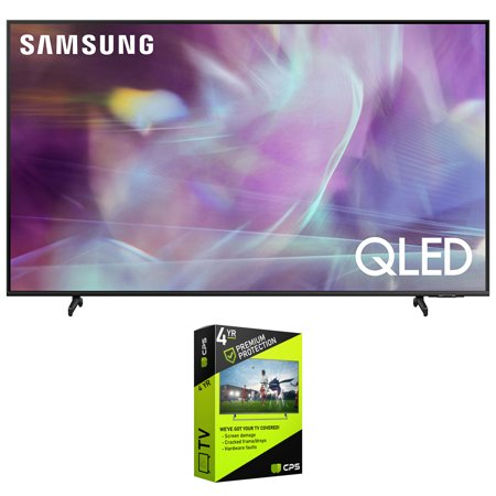 Samsung QN50Q60AA 50 Inch QLED 4K UHD Smart TV (2021) Bundle with Premium 4 Year Extended Protection Plan