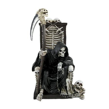 Pet Skeleton (Grim Reaper on Throne with Undead Skeleton Pet Statue )
