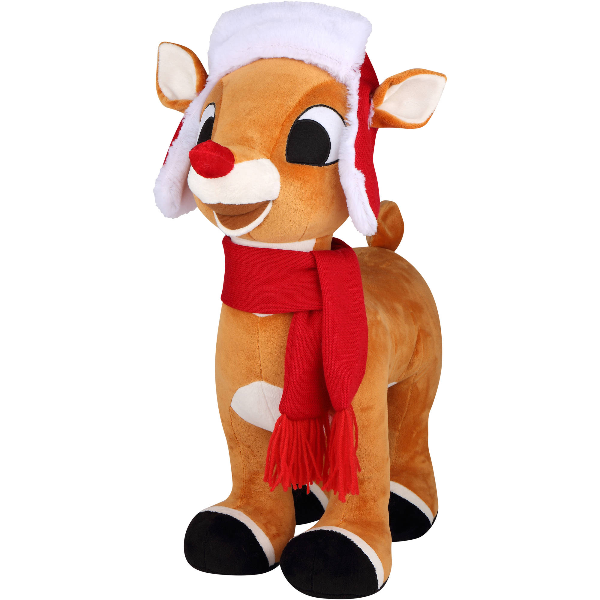 "Holiday Time Rudolph 39792 21"" Christmas Rudolph Plush Greeter"