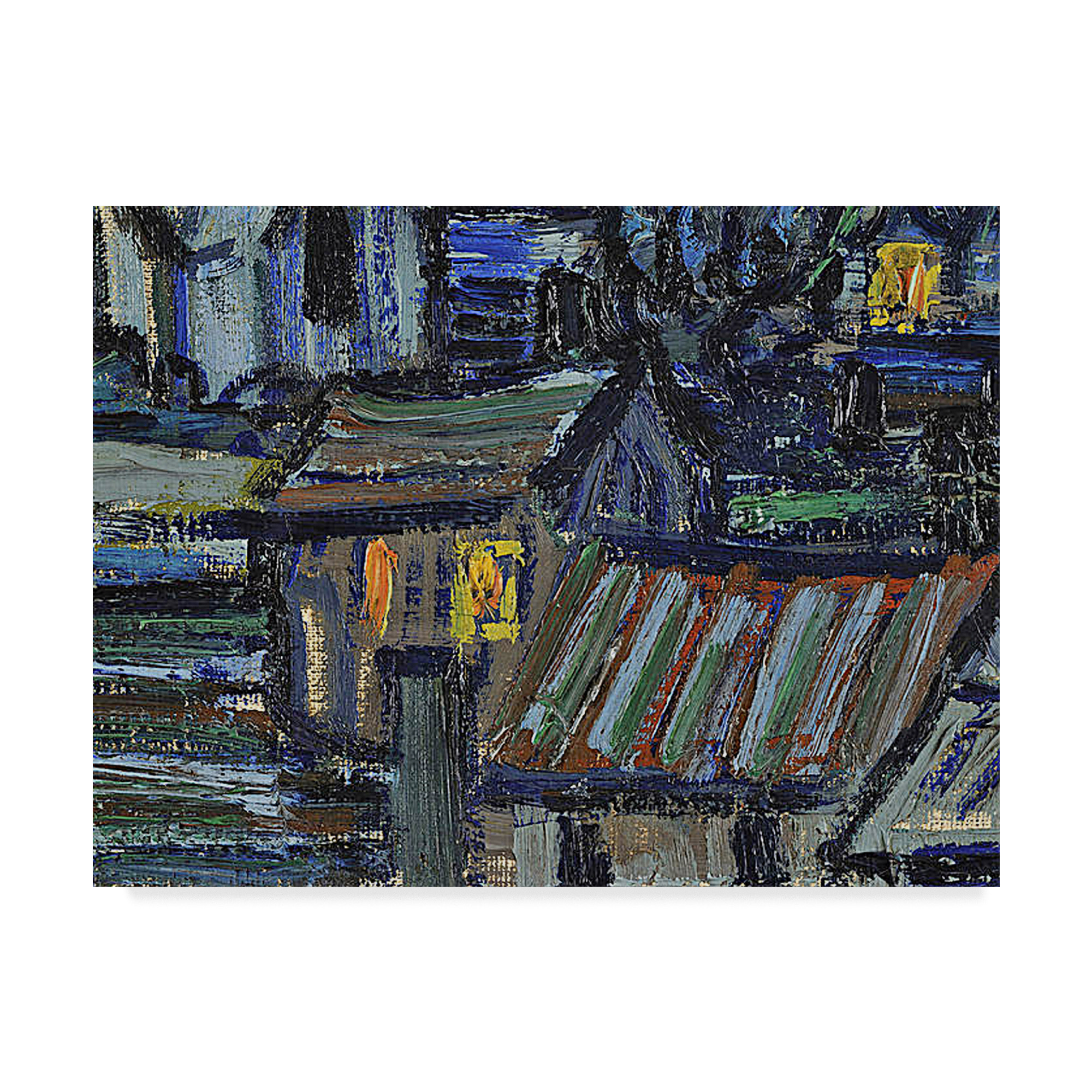 Trademark Fine Art 'The Starry Night June' Canvas Art by Vincent Van Gogh