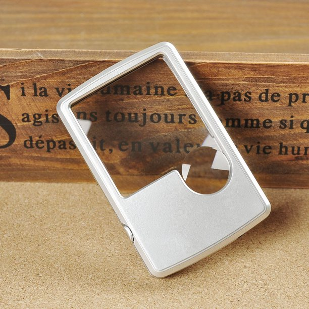 Pocket Magnifier Credit Card Size Reading Magnifying Glass
