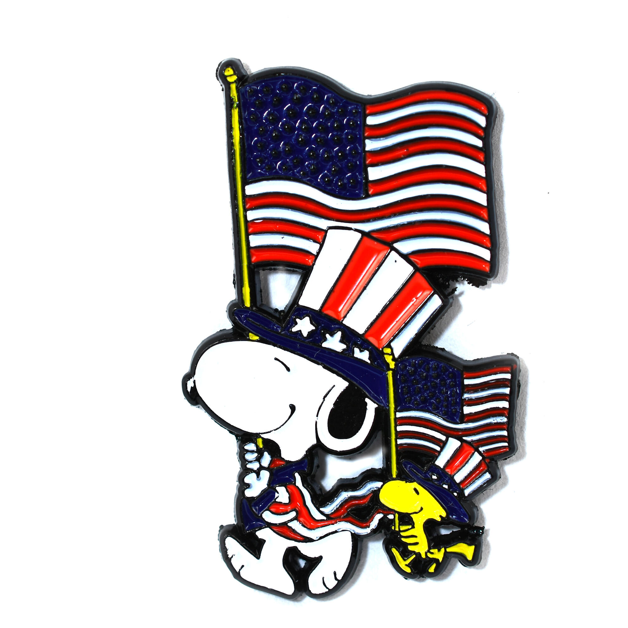 Cute Snoopy Pin Red Car with Snoopy and Woodstock Lapel Hat Pin Pendant