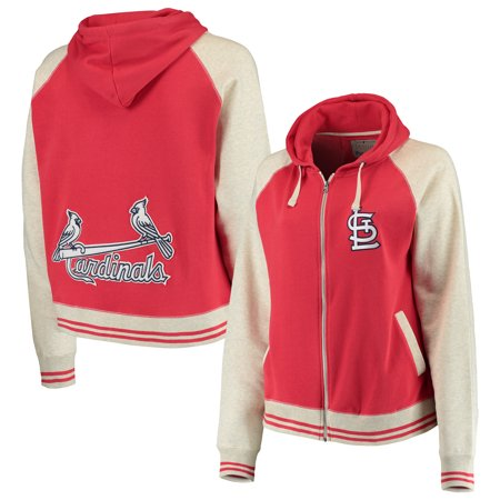 St. Louis Cardinals Soft as a Grape Women's Plus Size Varsity Raglan Full-Zip Hoodie - Red/Cream ()