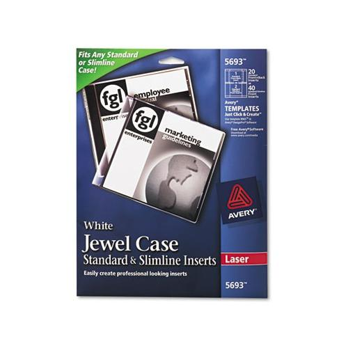 Avery Laser CD/DVD Jewel Case Inserts AVE5693
