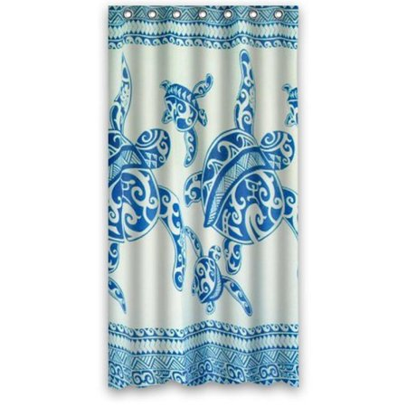 "Custom Waterproof Fabric Bathroom Shower Curtain Sea Turtle 36""(w) x 72"""