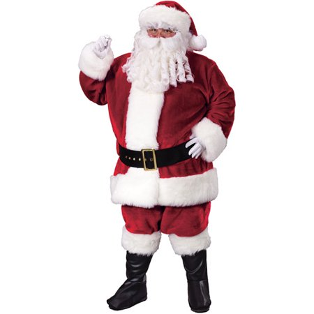 Crimson Plus Santa Suit Adult Costume - Adult Santa Outfit