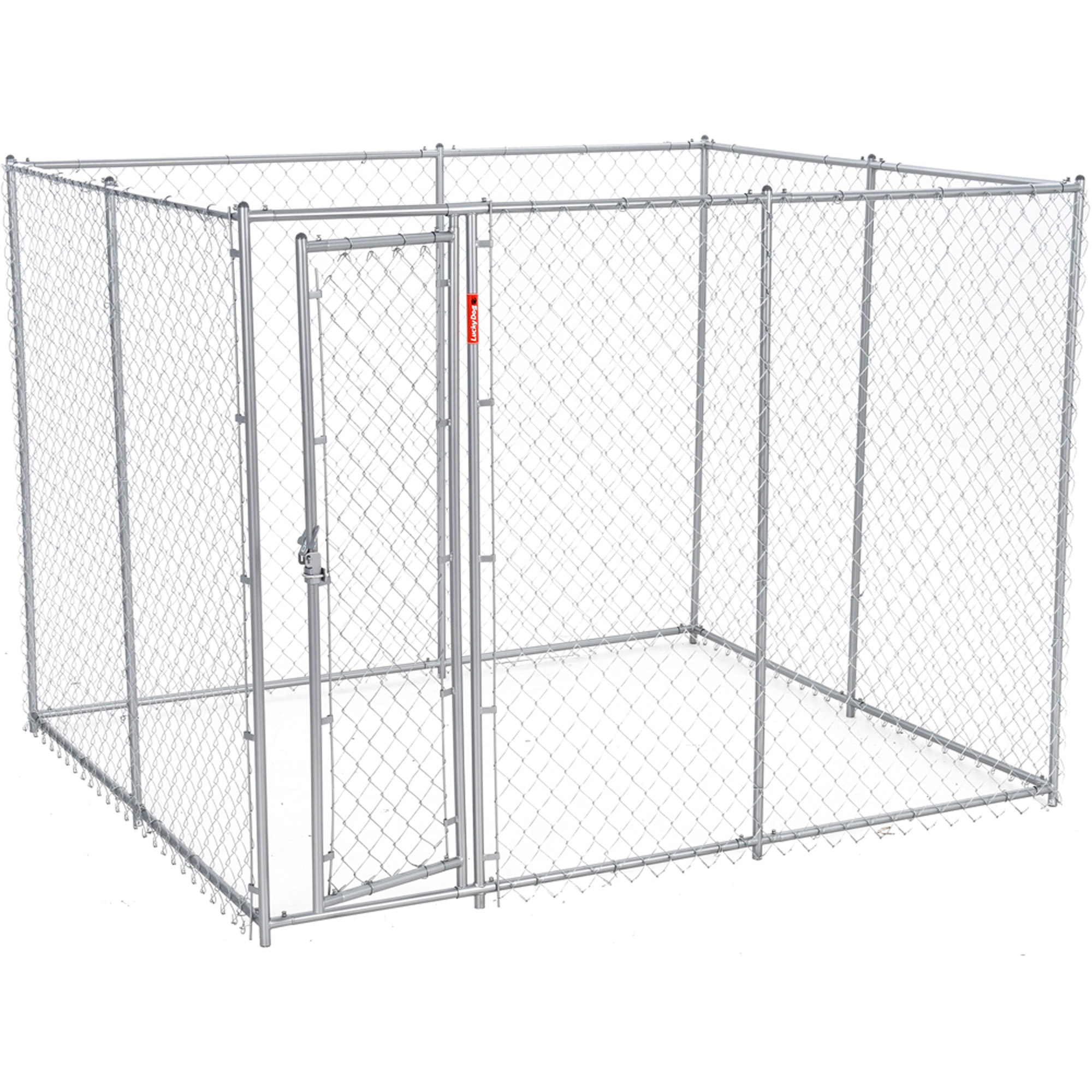 Lucky Dog 6'H x 5'W x 10'L/6'H x 8'W x 6.5'L Chain Link Boxed Kennel