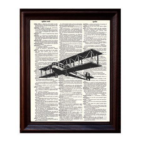 - Airplane - Dictionary Art Print Printed On Authentic Vintage Dictionary Book Page - 8 x 10.5