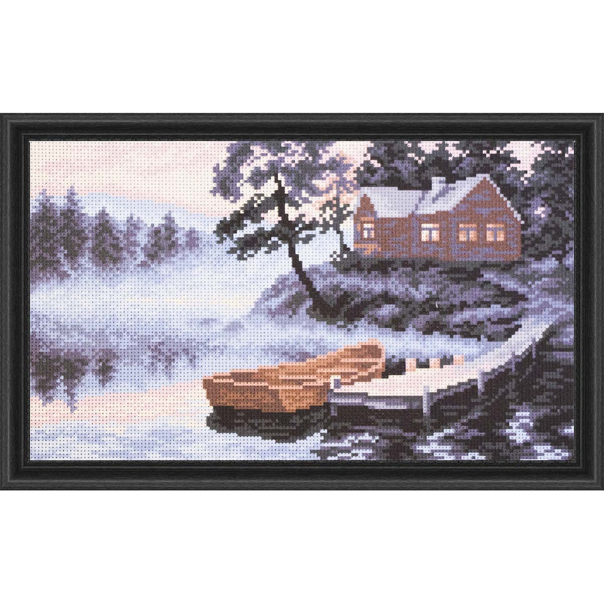Collection D'Art Silent Evening Stamped Cross-Stitch Kit
