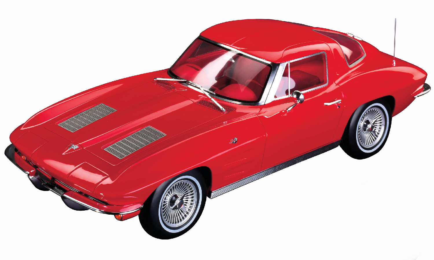 1963 Chevrolet Corvette Split Window Riverside Red with Red Interior 1 12 Model Car by GT Spirit for Acme by GT Spirit
