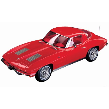 Red Corvette Model Car (1963 Chevrolet Corvette Split Window Riverside Red with Red Interior 1/12 Model Car by GT Spirit for Acme )