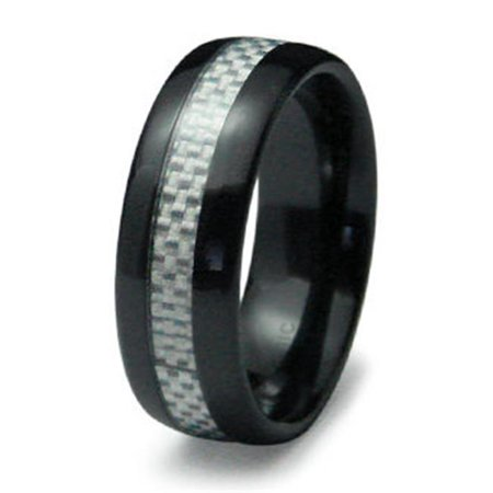 Ewc R40005 130 Ceramic Ring With Carbon Fiber Inlay   Size 13